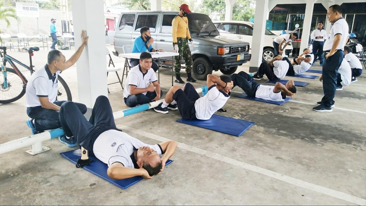 Segenap Prajurit dan PNS Lantamal IV Ikuti Test Garjas