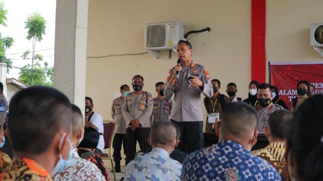 Kapolres Bintan berikan semangat dan motivasi bagi casis yang TMS